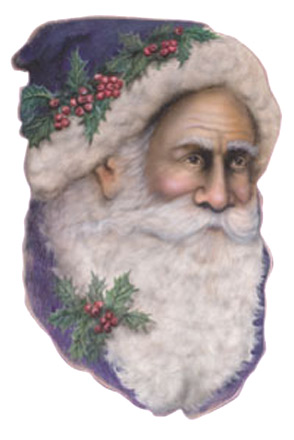 Father Christmas Face -  A Christmas Decoration & Display from Cottages and Gardens