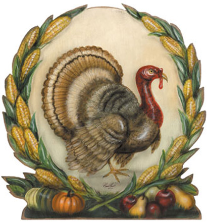 Harvest Turkey - A Thanksgiving Decoration & Diplay from Cottages and Gardens