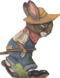 Rabbit Pulling Cart - An Easter Decoration & Display from Cottages and Gardens