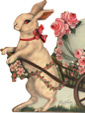 Rabbit With Egg Cart - An Easter Decoration & Display from Cottages and Gardens