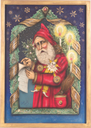 Santa Painting - A Christmas Decoration & Display from Cottages and Gardens