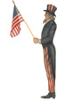 Uncle Sam With Flag - A Patriotic Decoration & Display from Cottages and Gardens