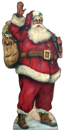 Waving Santa - A Christmas Decoration & Display from Cottages and Gardens