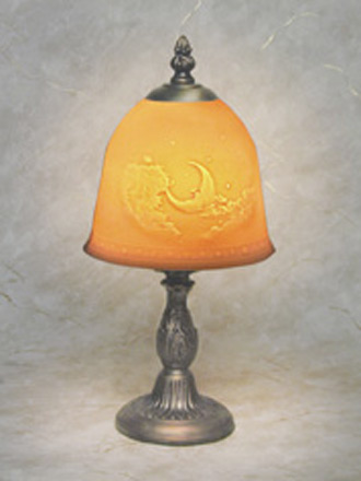 Man In The Moon Petite Lamp A Porcelain Lithophane