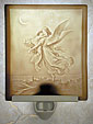 Porcelain Garden  - Porcelain Lithophane Night Lights (Guardian Angel)