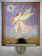 Guardian Angel In Color Lithophane Porcelain Night Light from Cottages and Gardens & The Porcelain Garden