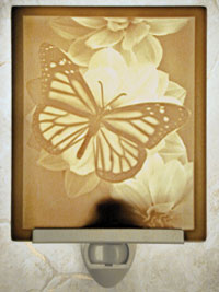 Butterfly Porcelain Night Light From Cottages And Gardens