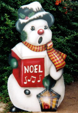 Snowman Caroler A Boardwalk Originals Hand Painted