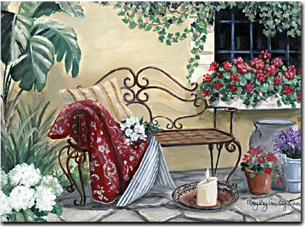 Iron Bench Iron Bench Romantic Print Giclee By Mary